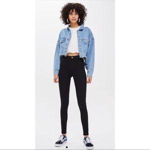 Top shop moto Joni high waisted black jeans